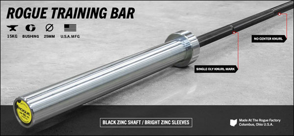 The Rogue Women's 25 mm Olympic Training Bar