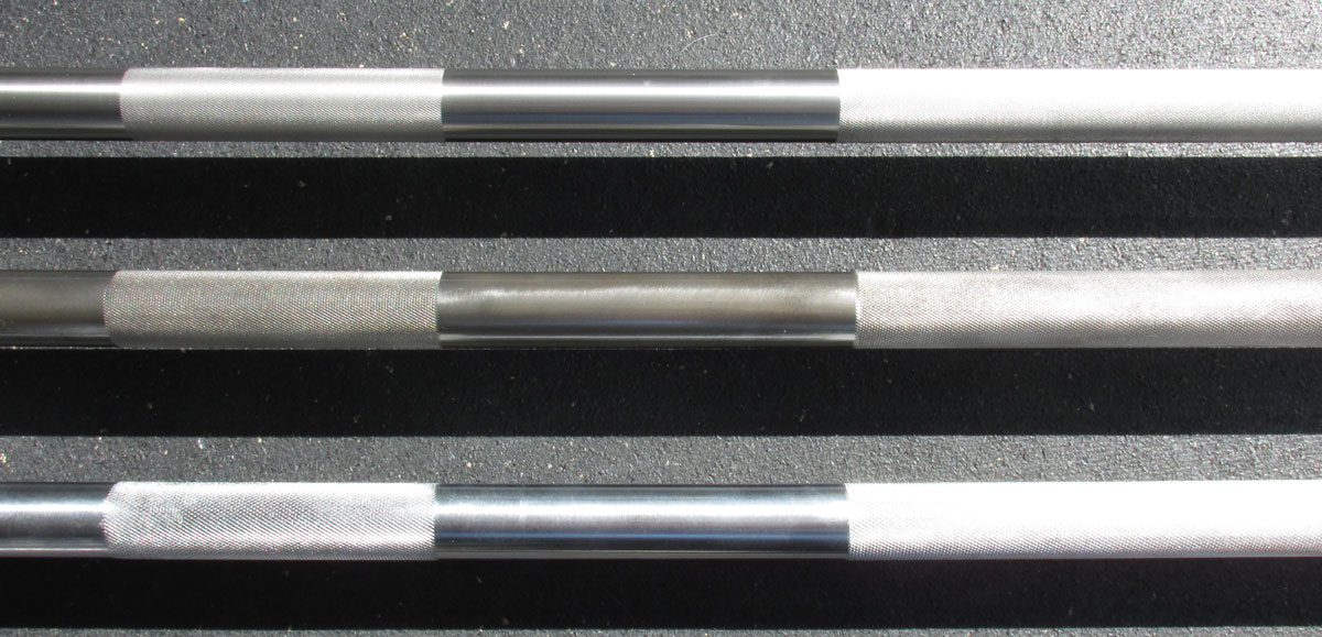 Material/Finish comparison - stainless steel, bare steel, chrome