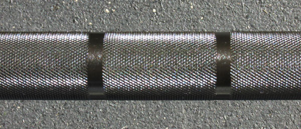 Knurling of the Vulcan One Basic Olympic Bar