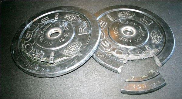 Some 10-pound bumper plate etiquette at a CrossFit affiliate