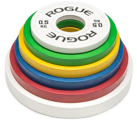 Stack of Rogue Kilo Change Plates