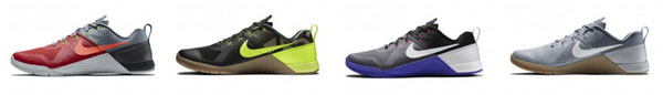 Some of the colors available - Nike MetCon 1