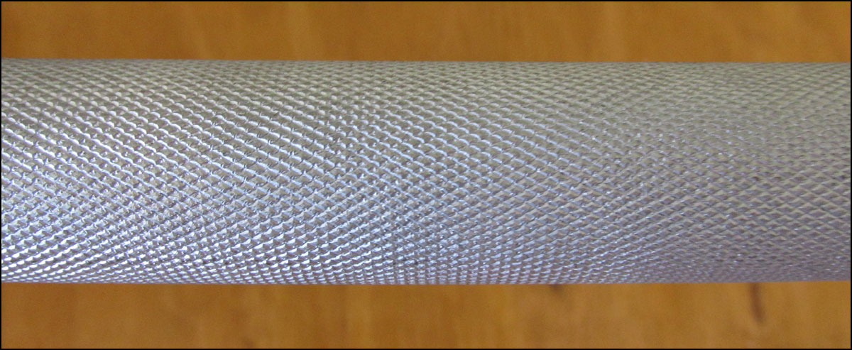 Close up of the Vulcan Elite knurling