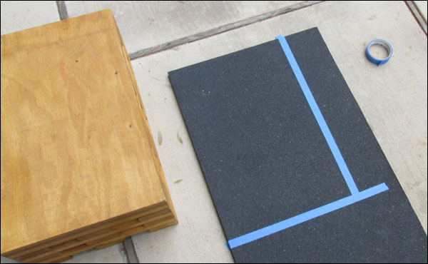 Cutting stall mats for the top of your pulling blocks