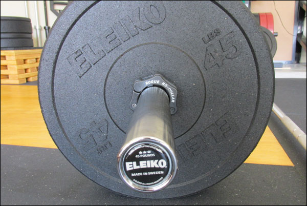 Eleiko XF Bar + Bumpers in pounds