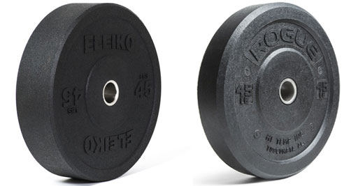 Eleiko XF Bumpers vs HI-Temp Bumpers - Pricing