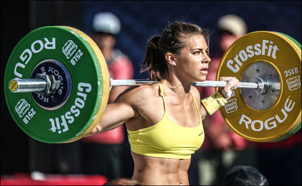 Rogue Women's Olympic WL Bar at the 2014 CrossFit Games