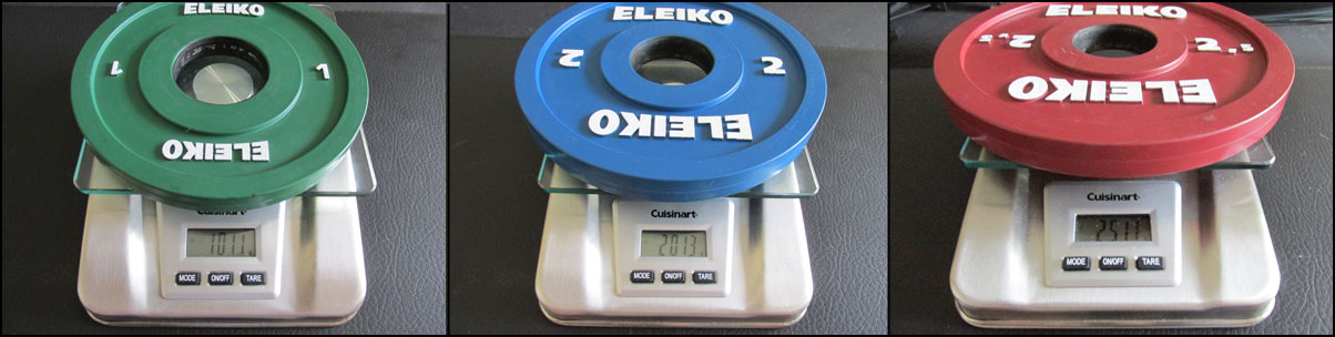 Eleiko IWF-certified change plate accuracy