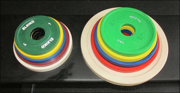 Eleiko IWF Change Plates vs Vulcan Change Plates