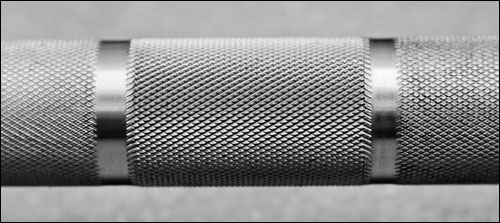 Burgener & Rippetoe Bar, knurling