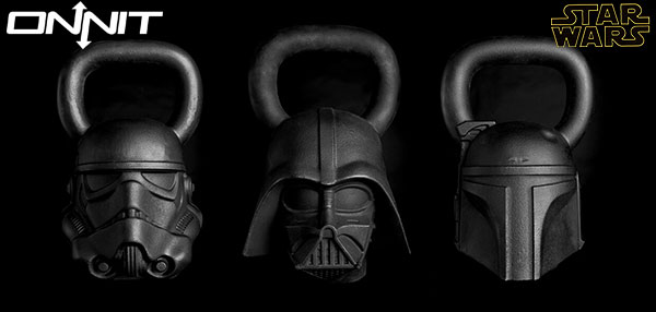 Officially licensed Star Wars Kettlebells by Onnit