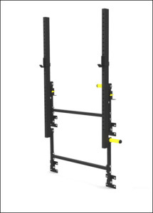 Again Faster Wall Mounted Folding Power Rack - Stored
