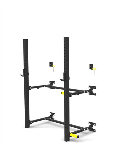 Again Faster Wall Mounted Folding Power Rack Garage Gyms