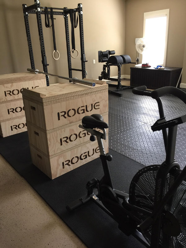 Quite the office. Rogue rack, jerk blocks, Oly bar, and Abrams 2.0