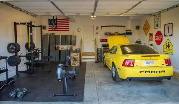 1 car garage crossfit gym : Inspirational garage gyms ideas gallery pg