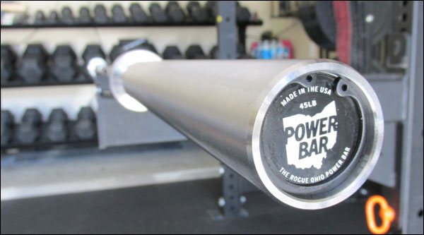 The Garage Gym's Ohio Power Bar - 45-lb bare steel