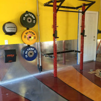 Pimped out PRx Profile Rack garage gym