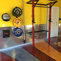 Pimped out PRx Profile Rack garage gym