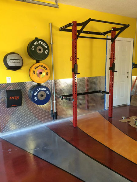 Pimped out prx profile rack garage gym gyms