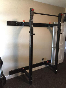 Rogue RML-3W Wall Rack ready to go