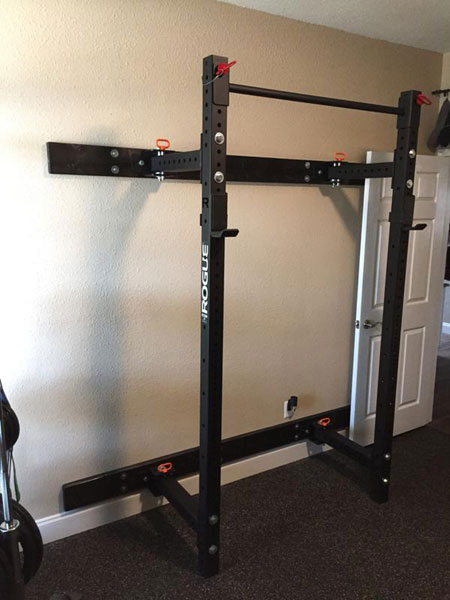 Rogue rml w wall rack ready to go garage gyms