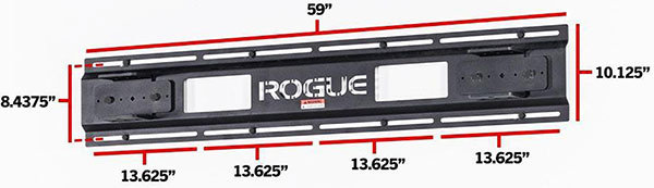 Rogue 11-gauge steel wall stringer for folding racks