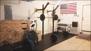 Garage Gym with a Slim Gym Rig