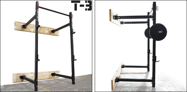 Folding wall mounted racks rigs buying guide for Cost of building a gym