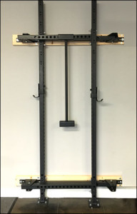 X-Training Folding Wall Rack - Folded Up