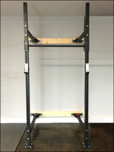 X-Training Folding Wall Rack - Unfolded