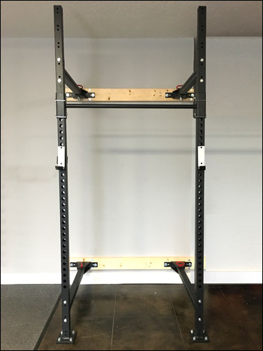 Walll mount home gym example