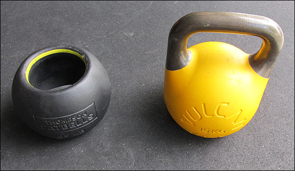 Fatbell versus kettlebell - size comparison