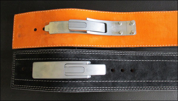 Pioneer Lever Belt (top) and the Inzer Forever Lever Belt