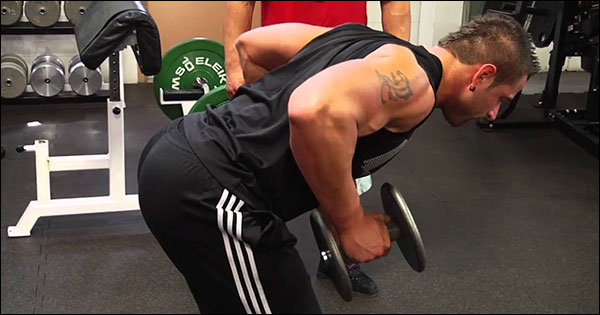 Bent-Over Dumbbell Row Garage Gym Exercise