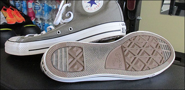 Bottom shot of the Converse Chuck Taylor All Stars