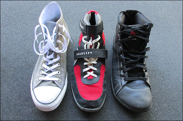 Chuck Taylor vs. SABO Deadlift vs. Reebok CrossFit Lite TR - Deadlift shoes