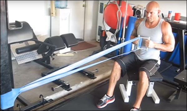 Seated resistance band rows the garage gym cable row
