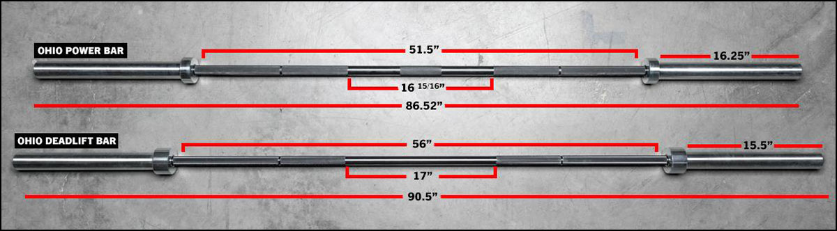 Rogue Ohio Deadlift Bar versus the standard Ohio Power Bar