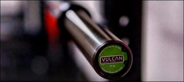 Vulcan One Basic 15 kg Economy CrossFit Bar - classic black zinc version