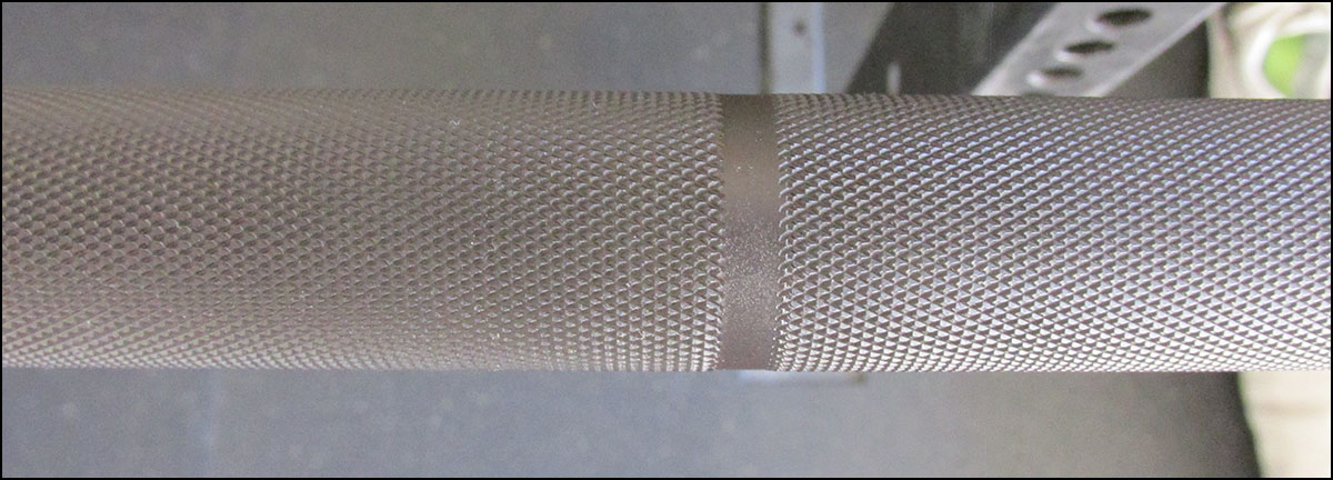 Close up of the Absolute Power Bar knurling