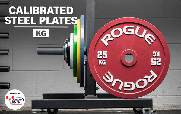 Rogue Fitness Calibrated Steel KG Plates are now IPF Approved