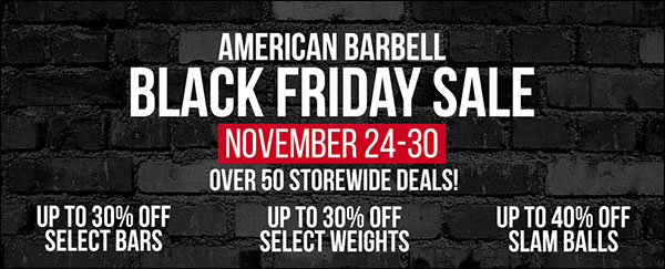 American Barbell Black Friday Sale!