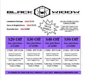 Black Widow Training - Black Friday Coupons