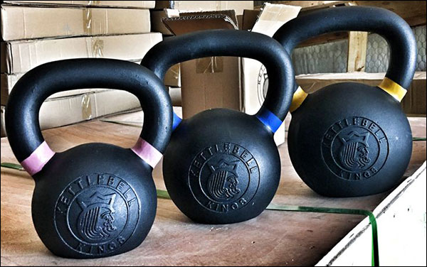 Kettlebell Kings' Black Powder Coated Kettlebells