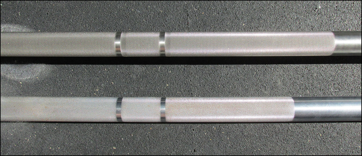 Rogue Matt Chan Bar and SS Ohio Bar knurling variation