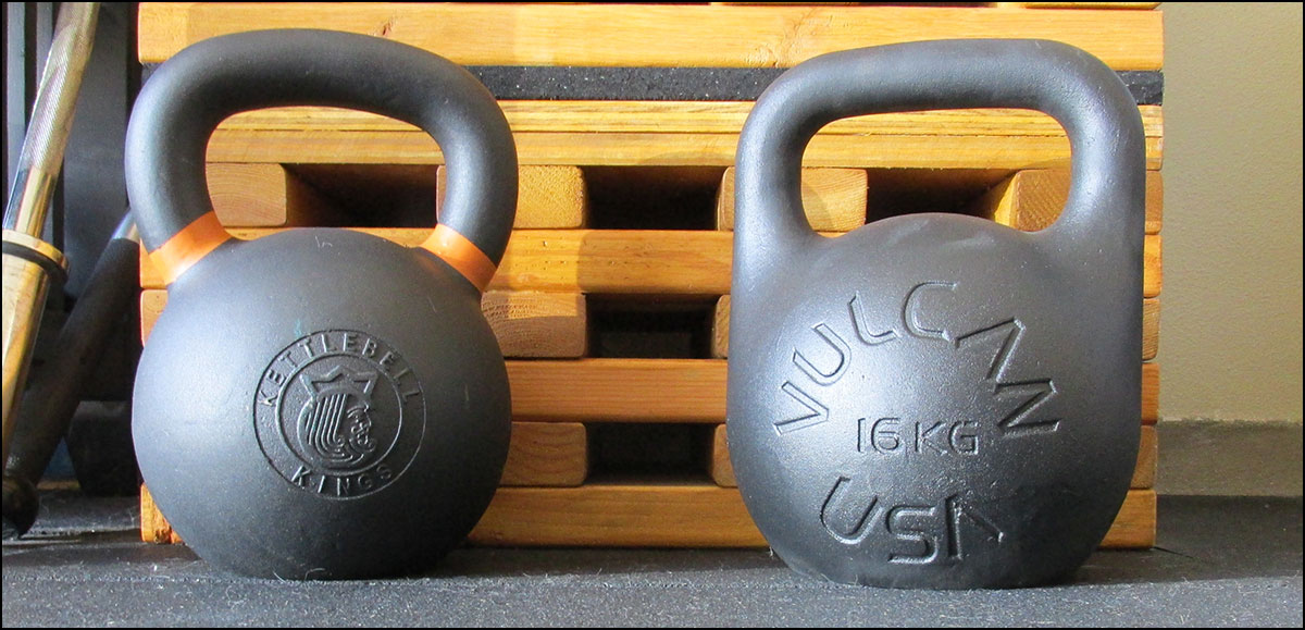 Vulcan Absolute vs Kettlebell Kings training kettlebells
