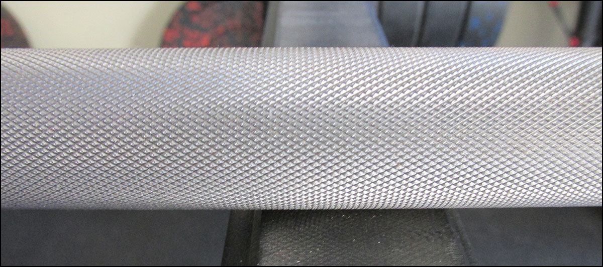 Rogue Ohio SS Bar knurl pattern