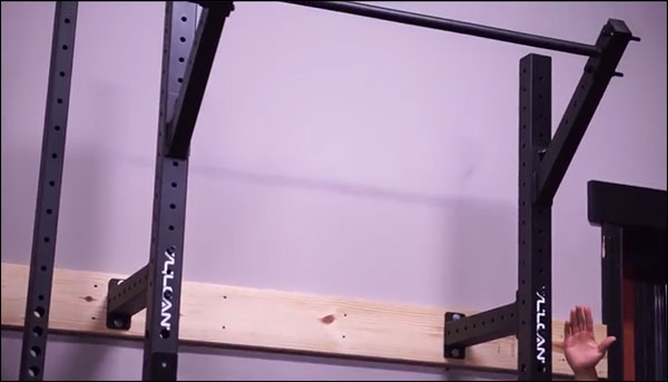 Vulcan Slim Fit Wall Mounted Rig for space saving garage gyms