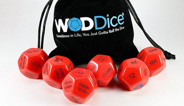WOD Dice Firebreather dice set