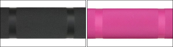 Cerakote finish options for the California Bar (pink on 15 kg only)